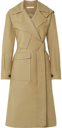 REJINA PYO Avery Oversized Belted Two-tone Cotton-twill Trench Coat