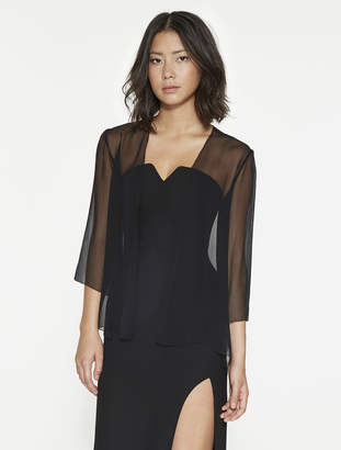 Halston Silk Georgette Cover-Up