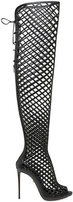 110mm Cage Leather Over The Knee Boots $1,722 thestylecure.com