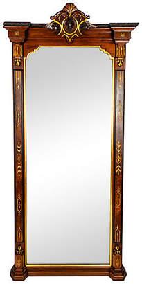 One Kings Lane Vintage Victorian Floor Length Pier Mirror - La Maison Supreme