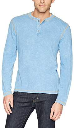 Agave Mens Freight Trains Long Sleeve Henley