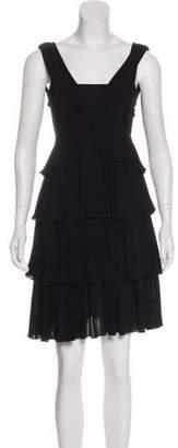 No.21 No. 21 Ruffle-Accented Knee-Length Dress