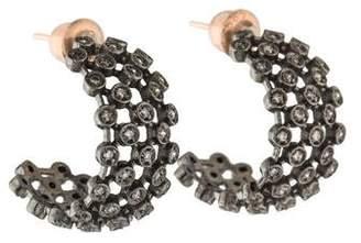 Kismet by Milka Diamond Hoop Earrings