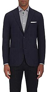 Boglioli Men's K2 Plaid Wool-Cashmere Two-Button Sportcoat - Navy