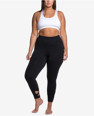 Soffe Curves Plus Size Wraparound-Hem Performance Leggings