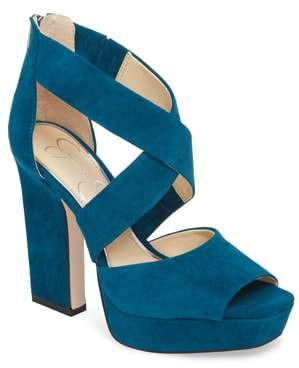 Jessica Simpson Tehya Cross Strap Platform Sandal
