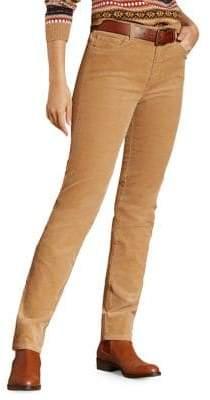 Brooks Brothers Red Fleece Corduroy Skinny Pants