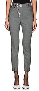 Alexander Wang Women's Button-Detail Houndstooth Trousers - Gray
