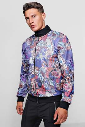 boohoo Paisley Print Track Top Jacket