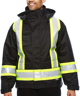 Work King High Visibility Lined 5-In-1 Jacket - Big & Tall