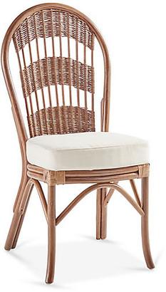 Bermuda Rattan Side Chair - Natural/White - South Sea Rattan