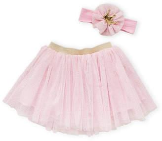 Popatu Newborn/Infant Girls) Two-Piece Pink Headband & Tutu Set