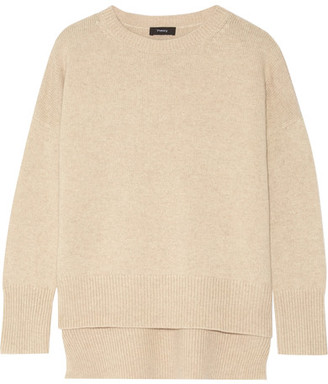 Theory - Karenia Cashmere Sweater - Beige $425 thestylecure.com