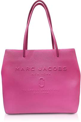 Marc Jacobs Fuchsia Saffiano Leather Logo Shopper