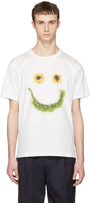 Paul Smith White Floral Smiley T-Shirt $195 thestylecure.com