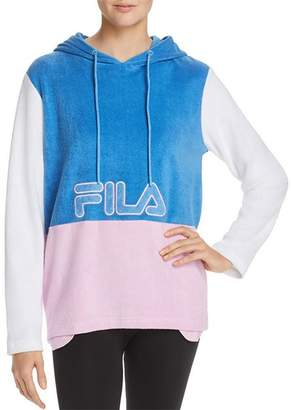 Fila Lux Color-Block Terry Hooded Sweatshirt