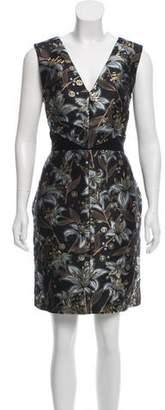 J. Mendel Metallic Silk Dress w/ Tags
