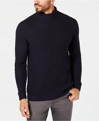 Tasso Elba Men's Cable-Knit Turtleneck Sweater