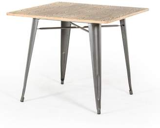 Laurèl Foundry Modern Farmhouse Spurling Metal and Wood Dining Table