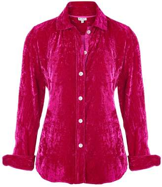 At Last... - Karen Silk Velvet Shirt Hot Pink