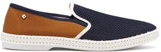 Rivieras Tour Du Monde Pegase Slip On Canvas Loafers - Mens - Brown Multi