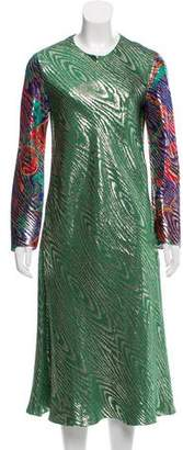 Maison Rabih Kayrouz Brocade Midi Dress