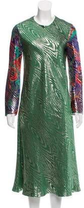 Maison Rabih Kayrouz Brocade Midi Dress