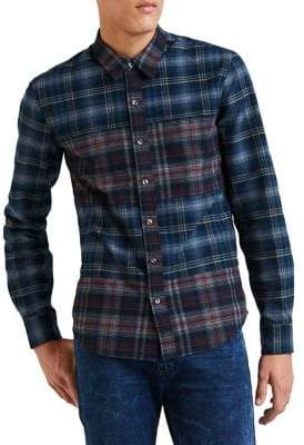 Levi's Pieced Heather Flannel Classic-Fit Button-Down Shirt