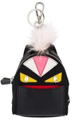 Fendi Micro Monster Backpack Charm w/ Tags