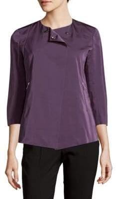 Lafayette 148 New York Merino Wool Drop-Hem Sweater