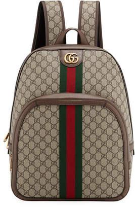 2f6fd7e52691 Gucci Men's GG Supreme Medium Canvas Backpack