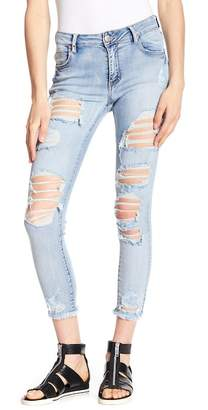 Cotton On & Co. Mid Rise Distressed Grazer Skinny Jeans
