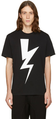 Neil Barrett Black One Thunder T-Shirt $210 thestylecure.com