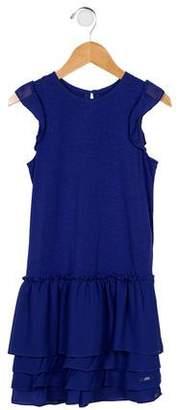 Lili Gaufrette Girls' Sleeveless Ruffled Dress