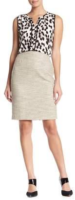 Modern American Designer Tweed Pencil Skirt