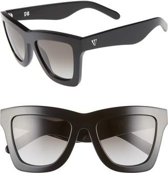 VALLEY 'DB' 49mm Oversized Sunglasses