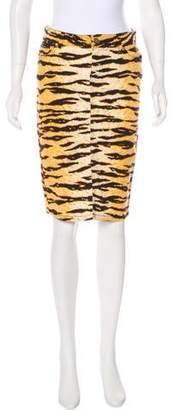 Dolce & Gabbana Abstract Print Knee-Length Skirt