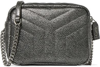 Saint LaurentSaint Laurent - Loulou Metallic Quilted Leather Shoulder Bag - Silver