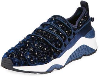 Ash Misstic Beaded Velvet Sneakers, Blue