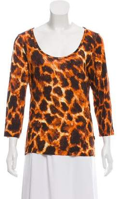 Just Cavalli Leopard Print Long Sleeve Top
