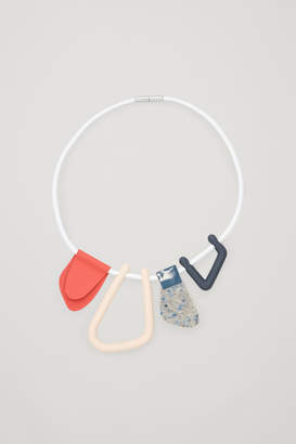 Cos ABSTRACT-SHAPE LEATHER NECKLACE