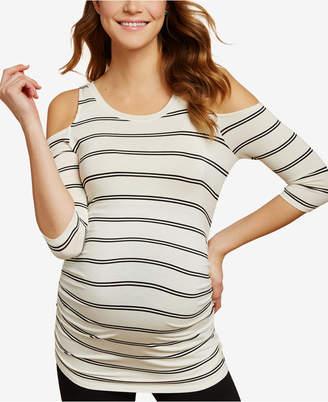 Jessica Simpson Maternity Cold-Shoulder T-Shirt