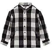Molo Kids Kids' Buffalo-Checked Flannel Shirt Jacket