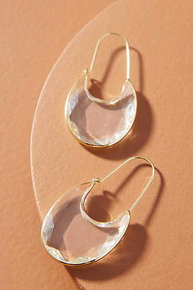 Anthropologie Rounded Crescent Hoop Earrings