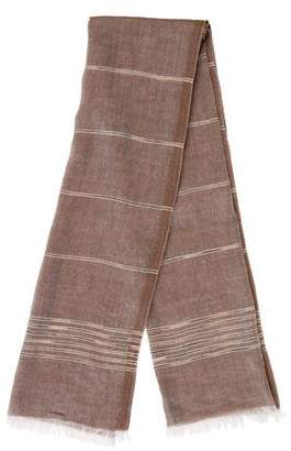 Les Copains Fringe-Trimmed Knit Scarf