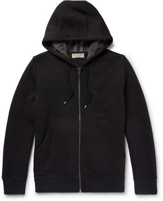 Burberry Cotton-Blend Jersey Hoodie - Black