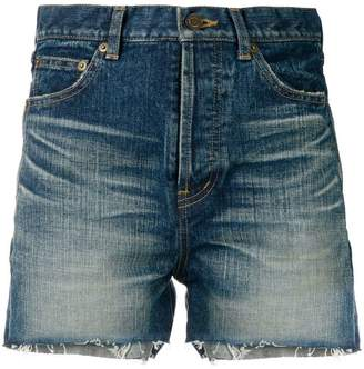 Saint Laurent slim denim shorts