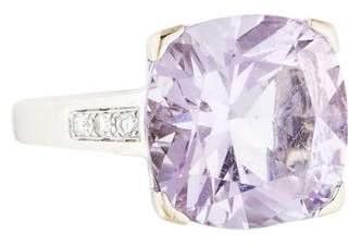 Mauboussin 18K Diamond & Amethyst Gueule d'Amour Cocktail Ring
