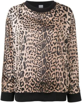 Pinko c-clique leopard print sweatshirt