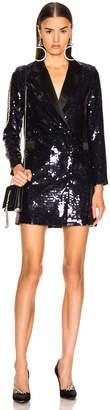 Fleur Du Mal Sequin Blazer Dress in Deep Amalfi | FWRD